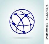 illustration of blue networking ... | Shutterstock .eps vector #693307876