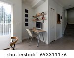 small office work space in an... | Shutterstock . vector #693311176