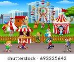 vector illustration of children ... | Shutterstock .eps vector #693325642