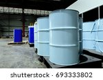 chemical containment 200 liters ... | Shutterstock . vector #693333802