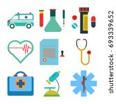 medical icon set | Shutterstock .eps vector #693339652