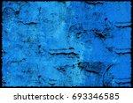 blue grunge background. texture ... | Shutterstock . vector #693346585