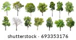 collection of isolated trees on ... | Shutterstock . vector #693353176