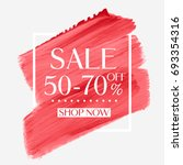 sale 50   70  off sign over... | Shutterstock .eps vector #693354316