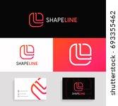 letter l logo icon square... | Shutterstock .eps vector #693355462