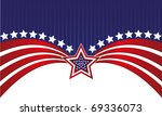 abstract american flag | Shutterstock .eps vector #69336073