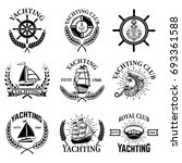 set of yachting emblems... | Shutterstock .eps vector #693361588