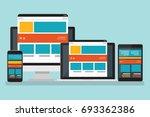 computer  responsive concept... | Shutterstock .eps vector #693362386