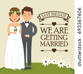 we are getting married card | Shutterstock .eps vector #693367606