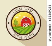 organic farm logo | Shutterstock .eps vector #693369256