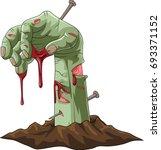 zombie hand. vector illustration | Shutterstock .eps vector #693371152