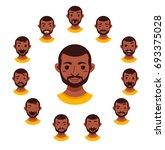 american african men facial... | Shutterstock . vector #693375028
