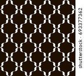 black and white trellis... | Shutterstock .eps vector #693377362