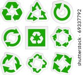 recycle symbol   round arrow... | Shutterstock .eps vector #69337792