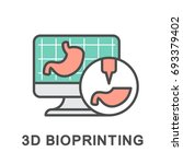 icon 3d bioprinting. modeling... | Shutterstock .eps vector #693379402