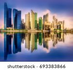 vibrant panorama background of... | Shutterstock . vector #693383866