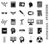 bursary icons set. simple set... | Shutterstock .eps vector #693384088