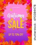 autumn sale poster for... | Shutterstock .eps vector #693384478