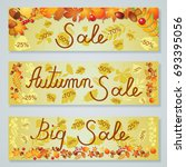 big super autumn sale poster ... | Shutterstock .eps vector #693395056