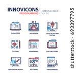 programming   modern essential... | Shutterstock .eps vector #693397795