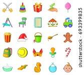 apprentice icons set. cartoon... | Shutterstock .eps vector #693399835