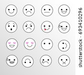 set emoticons icons for... | Shutterstock . vector #693410296