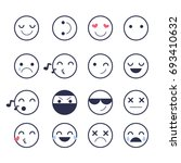 set emoticons icons for... | Shutterstock . vector #693410632