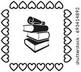 book vector icon | Shutterstock .eps vector #693414892