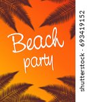 inscription the beach party on... | Shutterstock . vector #693419152