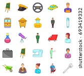 maintain icons set. cartoon set ... | Shutterstock .eps vector #693419332