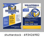 volleyball tournament posters ... | Shutterstock .eps vector #693426982
