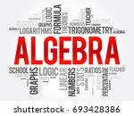 algebra word cloud collage ... | Shutterstock .eps vector #693428386