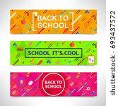 back to school vector... | Shutterstock .eps vector #693437572