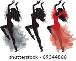 flamenco gypsy dance... | Shutterstock .eps vector #69344866