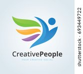 creative people logo template. | Shutterstock .eps vector #693449722