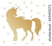 unicorn silhouette illustration.... | Shutterstock .eps vector #693455272
