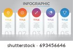 infographic element vector with ... | Shutterstock .eps vector #693456646