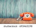 Old Orange Retro Rotary...