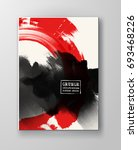 red and black abstract... | Shutterstock .eps vector #693468226