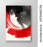 red and black abstract... | Shutterstock .eps vector #693468256