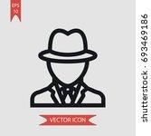 detective vector icon ... | Shutterstock .eps vector #693469186