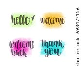 handwritten brush calligraphy... | Shutterstock .eps vector #693472156