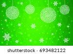 light green vector christmas... | Shutterstock .eps vector #693482122