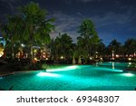 Swimming Pool In Night...