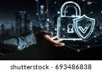 businessman on blurred... | Shutterstock . vector #693486838