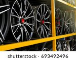 detail of magnesium alloy wheel ... | Shutterstock . vector #693492496