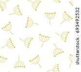 inflorescence dill. vector... | Shutterstock .eps vector #693492532