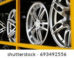 detail of magnesium alloy wheel ... | Shutterstock . vector #693492556