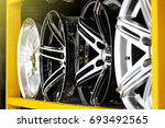 detail of magnesium alloy wheel ... | Shutterstock . vector #693492565