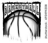 vector illustration basketball...   Shutterstock .eps vector #693494308
